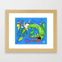 The Luck Dragon Framed Art Print