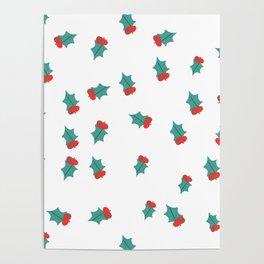 Ditsy Mistletoe Poster