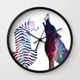Galaxy Wilderness Love Wall Clock