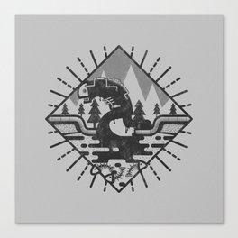 Monster Oil Canvas Print