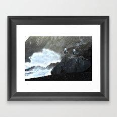 Birds and Waves Framed Art Print