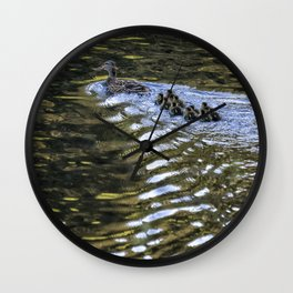 Ten Little Mallards and Mama Wall Clock
