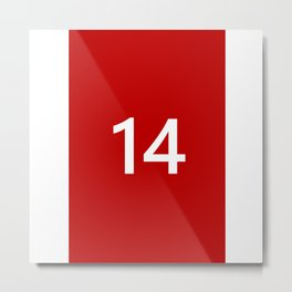 Legendary No. 14 in red and white Metal Print