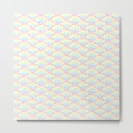 Ink dot scales - Rainbow Metal Print