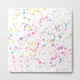 Spring Happy - Bright Color Paint Splatter Metal Print