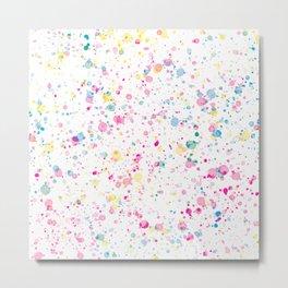 Spring Happy - Bright Color Paint Splatter Metal Print