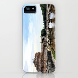 Castel St'Angelo Across the Tiber River - Rome, Italy iPhone Case