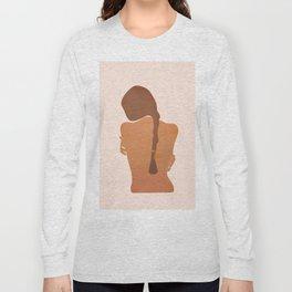 Minimal Female Figure Long Sleeve T-shirt