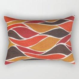 Waves in warm tones  Rectangular Pillow
