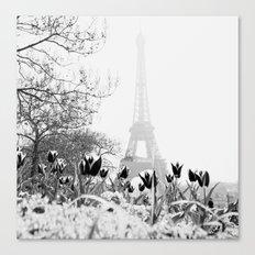 Paris Black & White Canvas Print