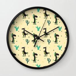 Cute Desert Dinosaurs Wall Clock