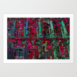 Psychedelic windows Art Print