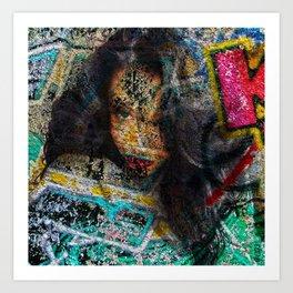 Self abstract me... Art Print