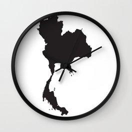 Thailand Silhouette Map Wall Clock