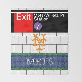 NYC Mets Subway Throw Blanket