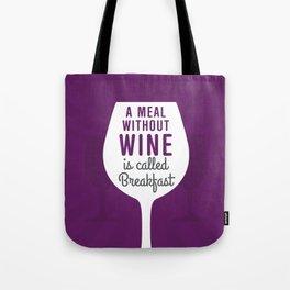 Wine Breakfast Tote Bag