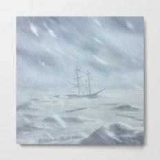Pirate Ship - Siren Call detail Metal Print