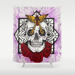 Skull and Roses (2) Shower Curtain