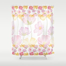 colorful cosmos flower Shower Curtain