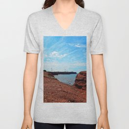 Cliffside Wind Turbines Unisex V-Neck