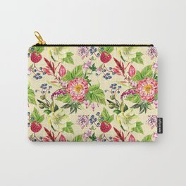 Fowers and Berries Spring Carry-All Pouch