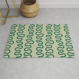 Coral Green Rug