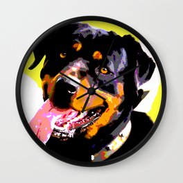 The ROTTIE from our POP YOUR POOCH line Wall Clock