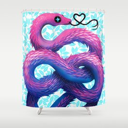 Cotton Candy Snake Shower Curtain