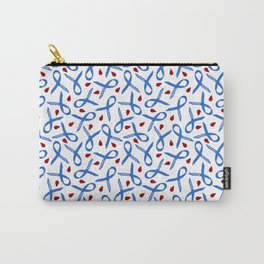 Diabetes Awareness Ribbon with Blood Drops Carry-All Pouch