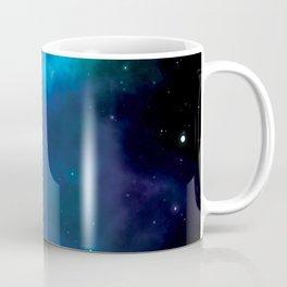 Blue and green  milky way galaxy and starry sky Coffee Mug