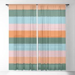 Color Stripe_007 Sheer Curtain