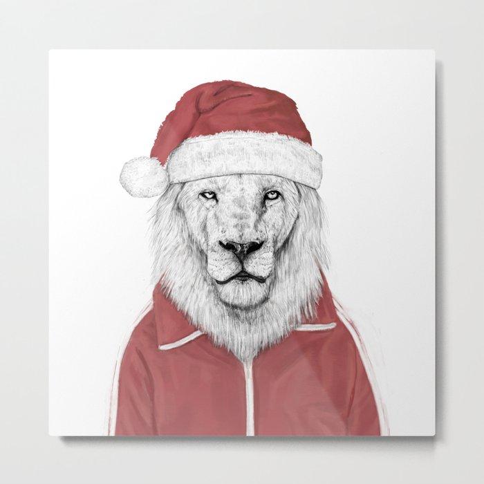 Santa lion Metal Print