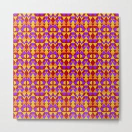 aztec pattern, tribal background Metal Print