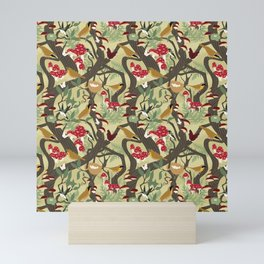North American Forest Pattern (Natural) Mini Art Print