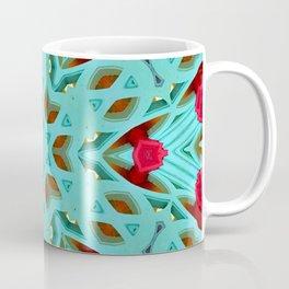 Aqua Art Dec Kaleidoscope Coffee Mug