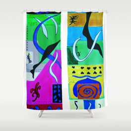 Paradise Color . Inspiration From Matisse Shower Curtain