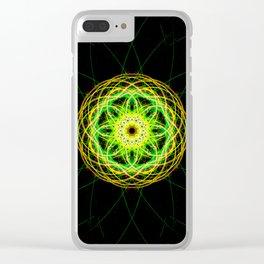 Digital Spirograph Clear iPhone Case