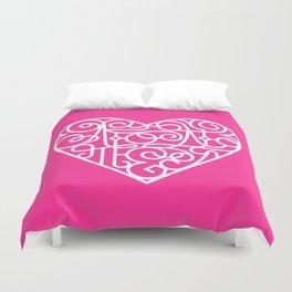 Я тебя люблю. Pink Duvet Cover