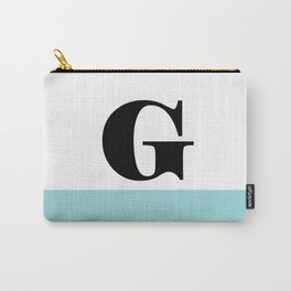 Monogram Letter G-Pantone-Limpet Shell Carry-All Pouch
