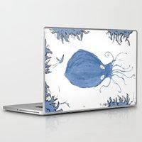 squid Laptop & iPad Skins featuring squid.  by Elvis Vazquez