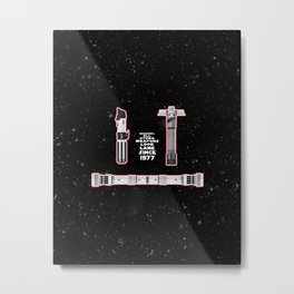 LIGHTSABER Metal Print