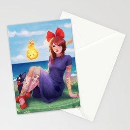 Anime waifu Stationery Cards
