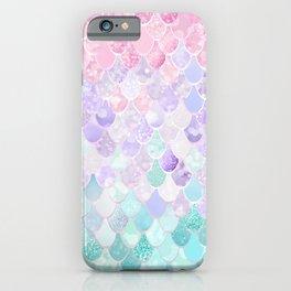 Cute Mermaid Pattern, Light Pink, Purple, Teal iPhone Case