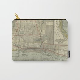 Vintage Map of Niagara Falls NY (1893) Carry-All Pouch