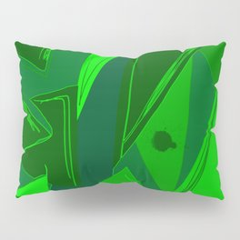 Cages at the Border Green #Abstract #Geometric #PoliticalArt Pillow Sham