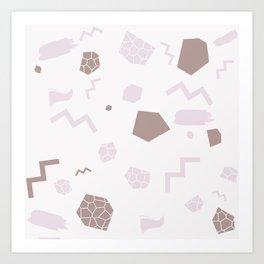 SHAPES PINK Art Print