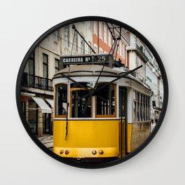 Tram in Lisbon Wall Clock
