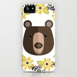 Bear&Flowers iPhone Case