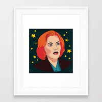 mulder Framed Art Prints featuring Mulder No by fin apollo