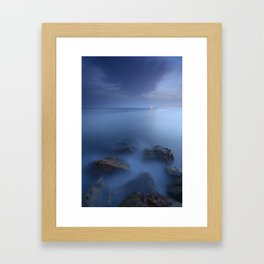 """Blue sea"". Blue hour. Framed Art Print"